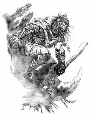 Rune viking warlord dessins pr paratoires de jeux vid os - Dessin de viking ...